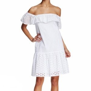 NWT Rebecca Minkoff Celestine White Eyelet Dress M